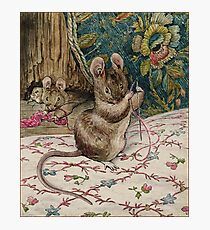The Mice at Work.Threading the Needle. Beatrix Potter Photographic Print