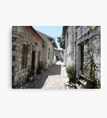 The Cobbled BackStreets Surrounding Old Marmaris  Canvas Print