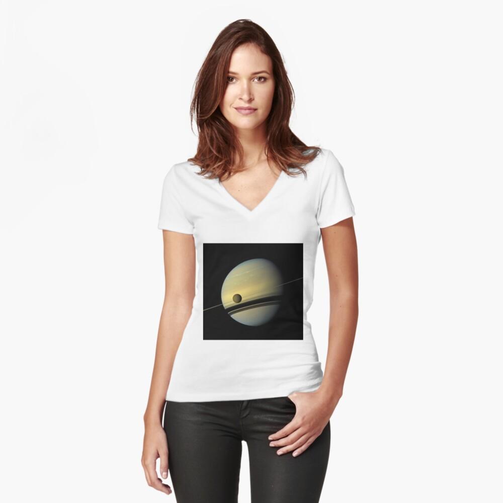 Picture, illustration, structure, framework, composition, frame, texture, form Fitted V-Neck T-Shirt