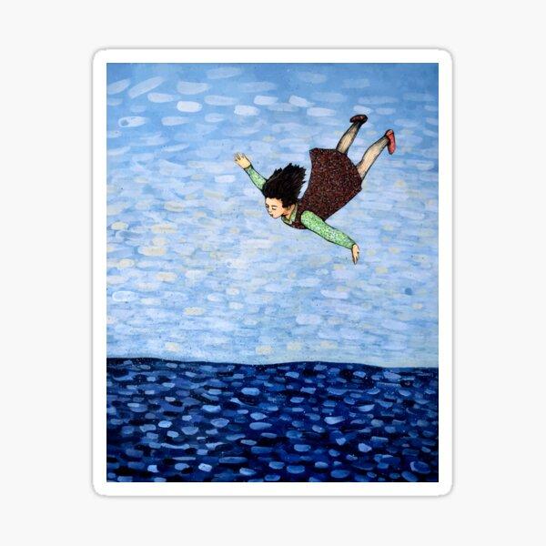 Lucid Flying Dream Girl Sticker