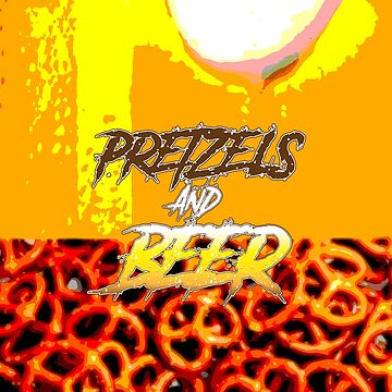 Pretzels and beer by theartistgrimm