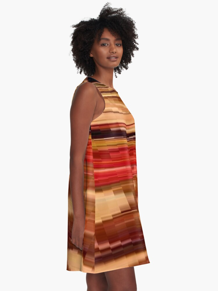 Alternate view of pattern, design, tracery, weave, drawing, figure, picture, illustration A-Line Dress