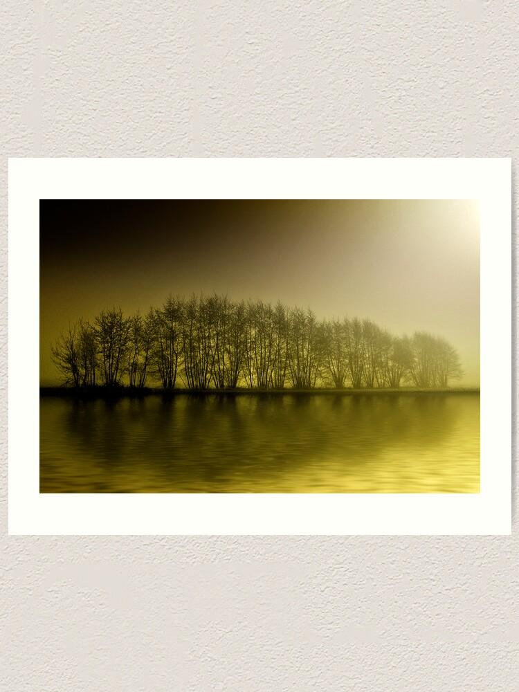Alternate view of misty yellow Art Print