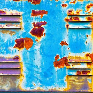 Rusty and peeling metal by sil63
