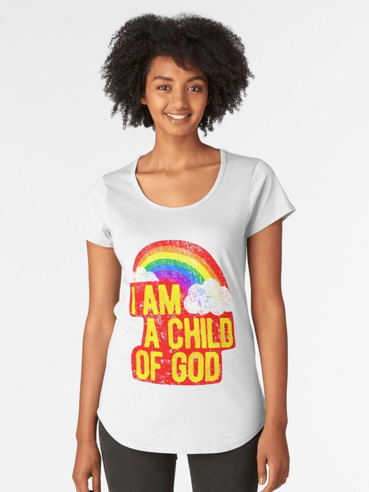 Camisetas premium para mujer «Soy un niño de dios Jesús me ama ...