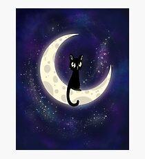 The Moon's Cat Photographic Print