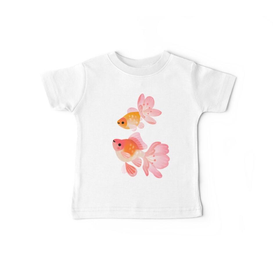 «Pez de colores de flor de cerezo 1» de pikaole