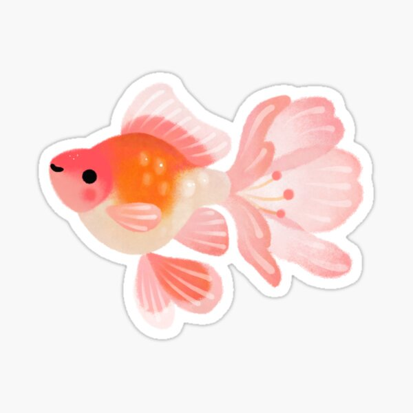 Cherry blossom goldfish 1 Sticker