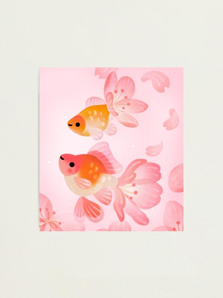 Alternate view of Cherry blossom goldfish 1 Photographic Print