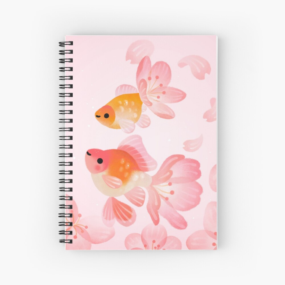 Cherry blossom goldfish 1 Spiral Notebook