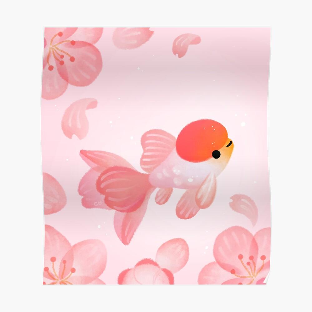 Cherry blossom goldfish 1 Poster