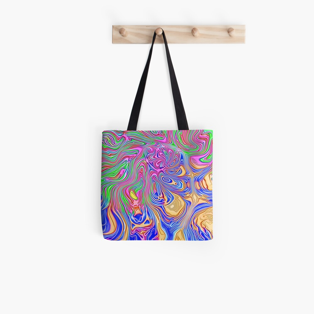 Abstract liquid ways Tote Bag