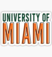 University of Miami offset type Sticker