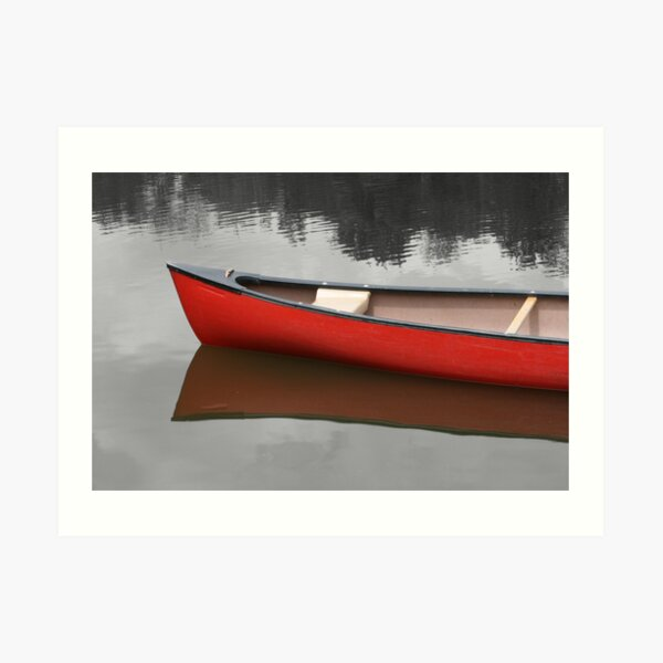 Red Canoe Art Print