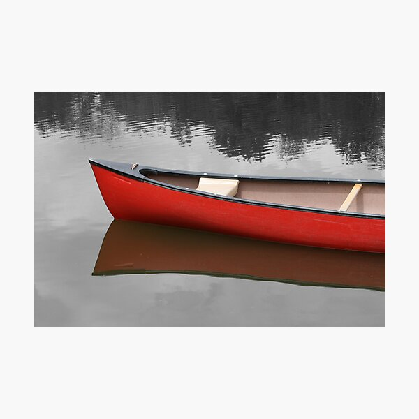 Red Canoe Photographic Print
