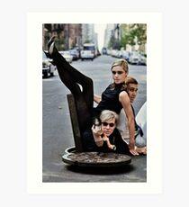 Edie Sedgwick Andy Warhol Fotografie Mode-Ikone Kunstdruck