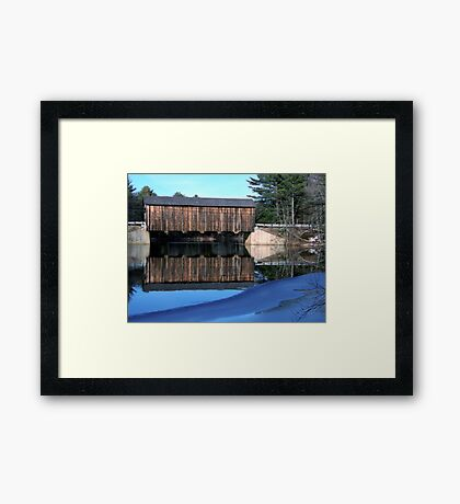 "Icy Waters at ""County"" Covered Bridge Framed Print"