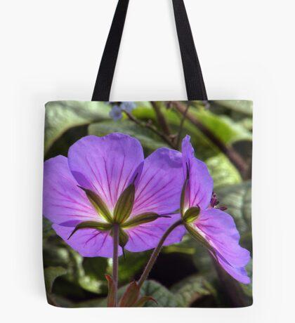 Glowing Rozanne Geranium Tote Bag