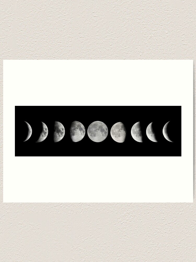 Alternate view of Moon phases Art Print