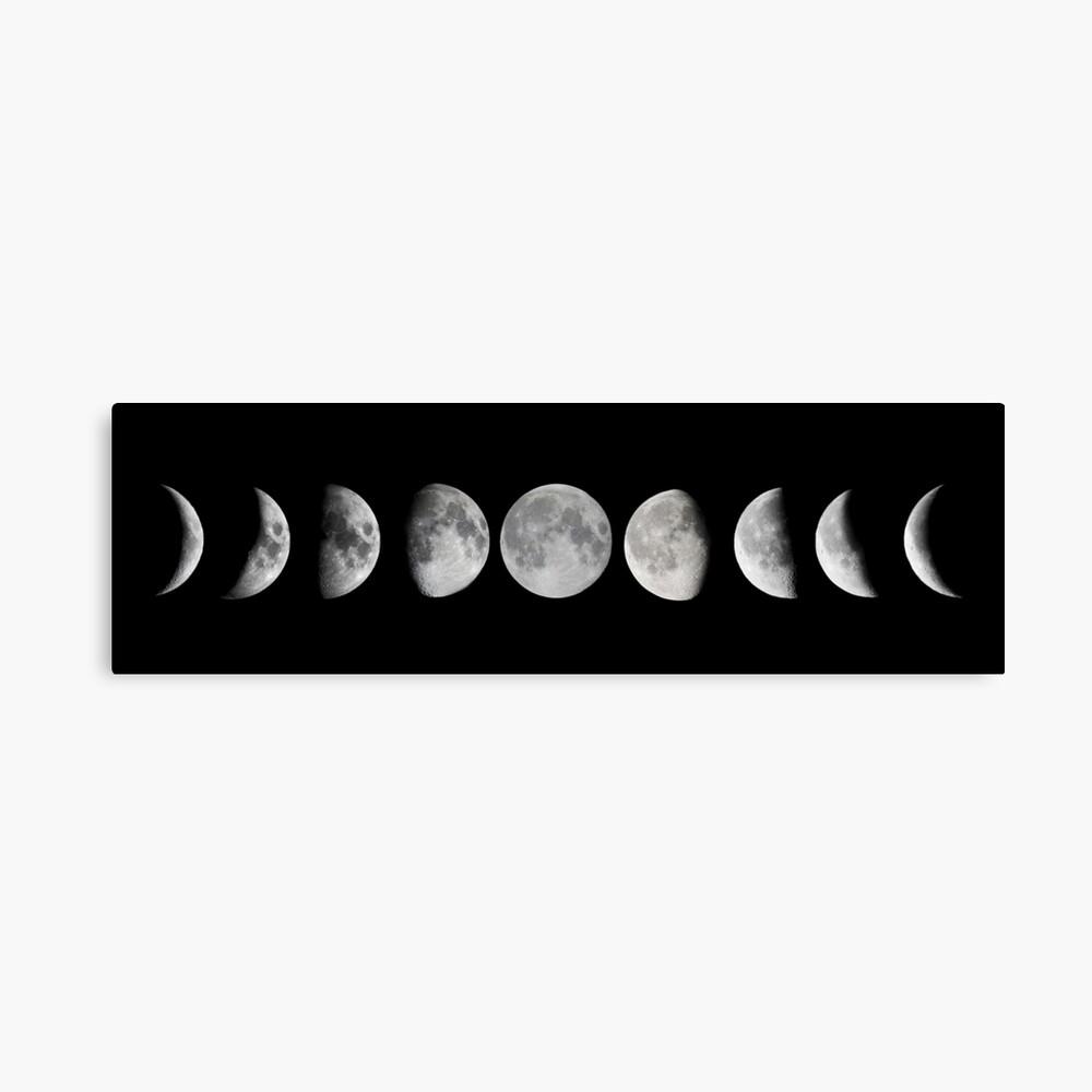 Mondphasen Leinwanddruck