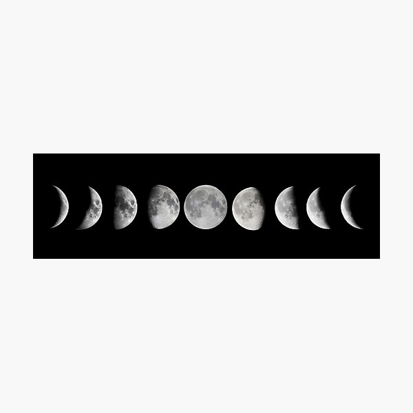 Moon phases Photographic Print