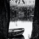 boat bw by Dirk Delbaere