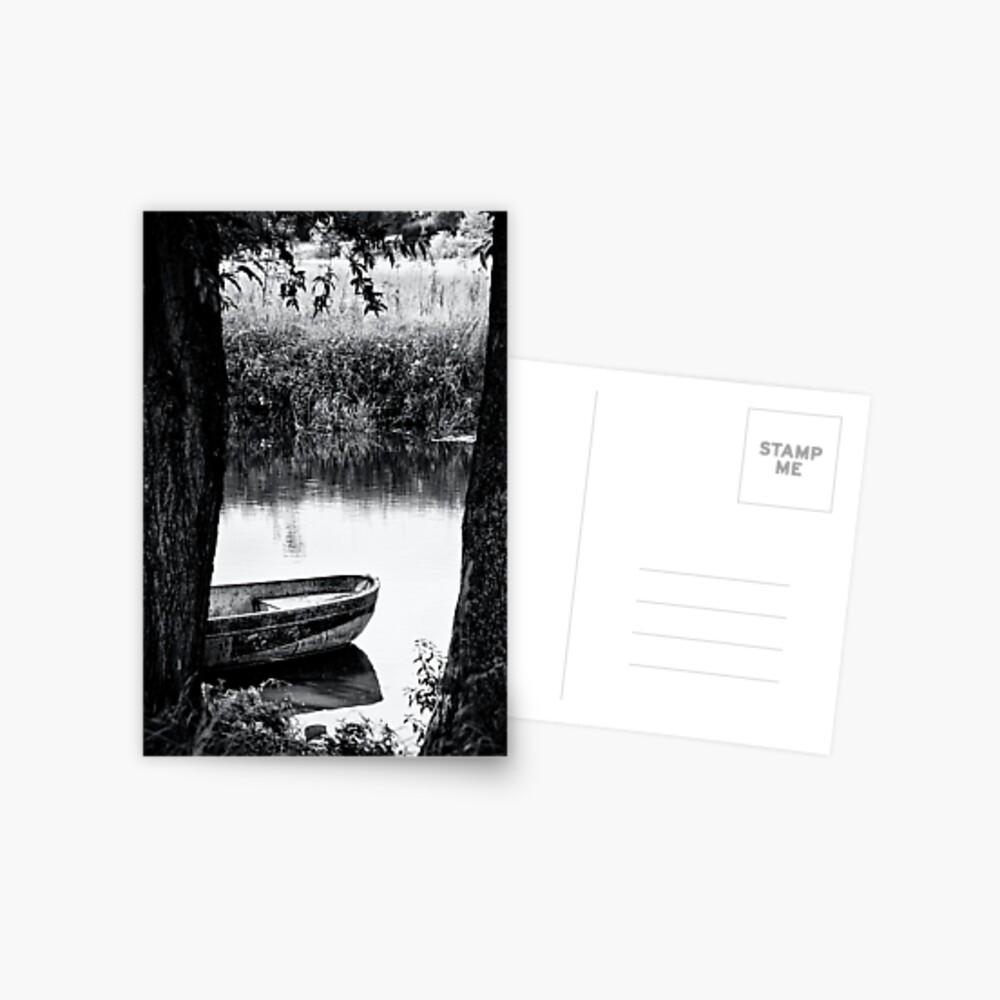 boat bw Postcard