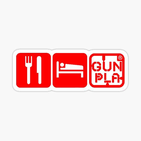 Eat Sleep Gunpla (red) Sticker