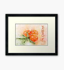 Sea Buckthorn Framed Print