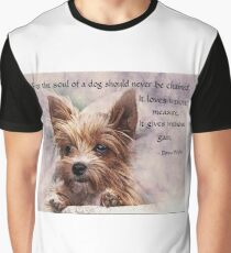 The Soul of a Dog - Yorkie Graphic T-Shirt