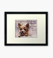 The Soul of a Dog - Yorkie Framed Print