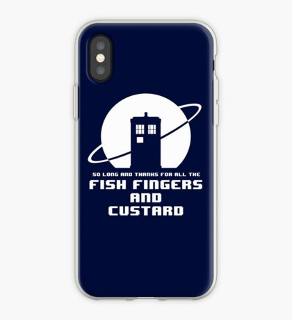 Fish Fingers and Custard White iPhone Case