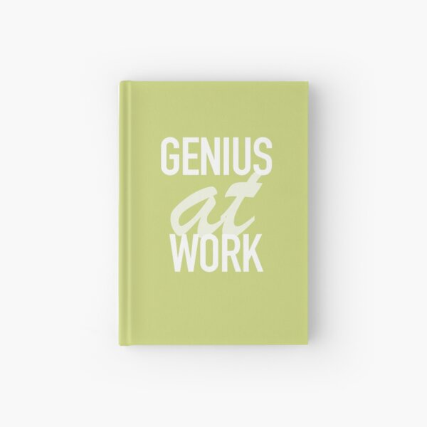 Genius at Work Green Hardcover Journal