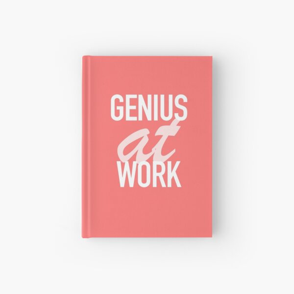 Genius at Work Pink Hardcover Journal