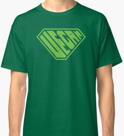 Vegan SuperEmpowered (Green) Classic T-Shirt