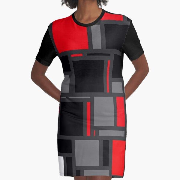 Modern Mondrian Graphic T-Shirt Dress