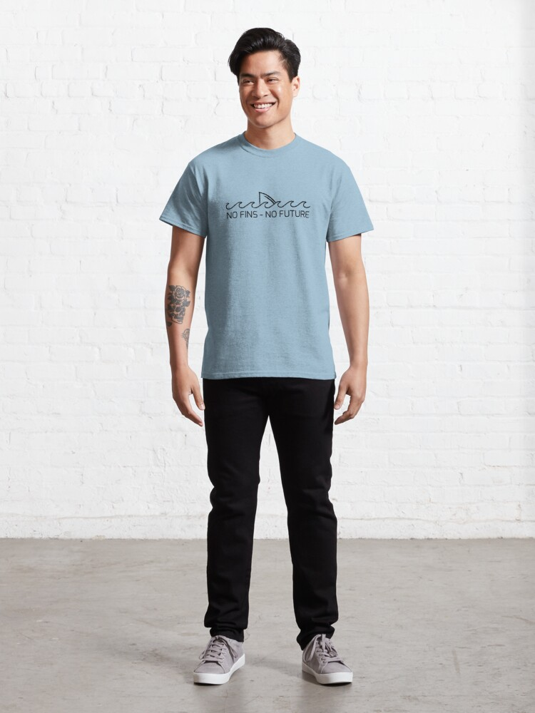 Alternate view of No Fins, No Future Classic T-Shirt