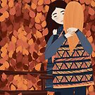 friends autmn hug by tomashevskaya