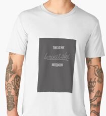 This is my Croatian Language Notebook Spiral Bound Men's Premium T-Shirt