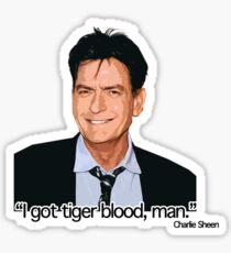 CHARLIE SHEEN-TIGERBLOOD Sticker