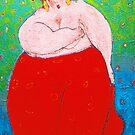 Red lady by Gunter Wenzel