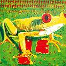 Red eye frog by Gunter Wenzel