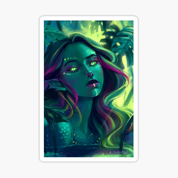 Monstera Mermaid Sticker