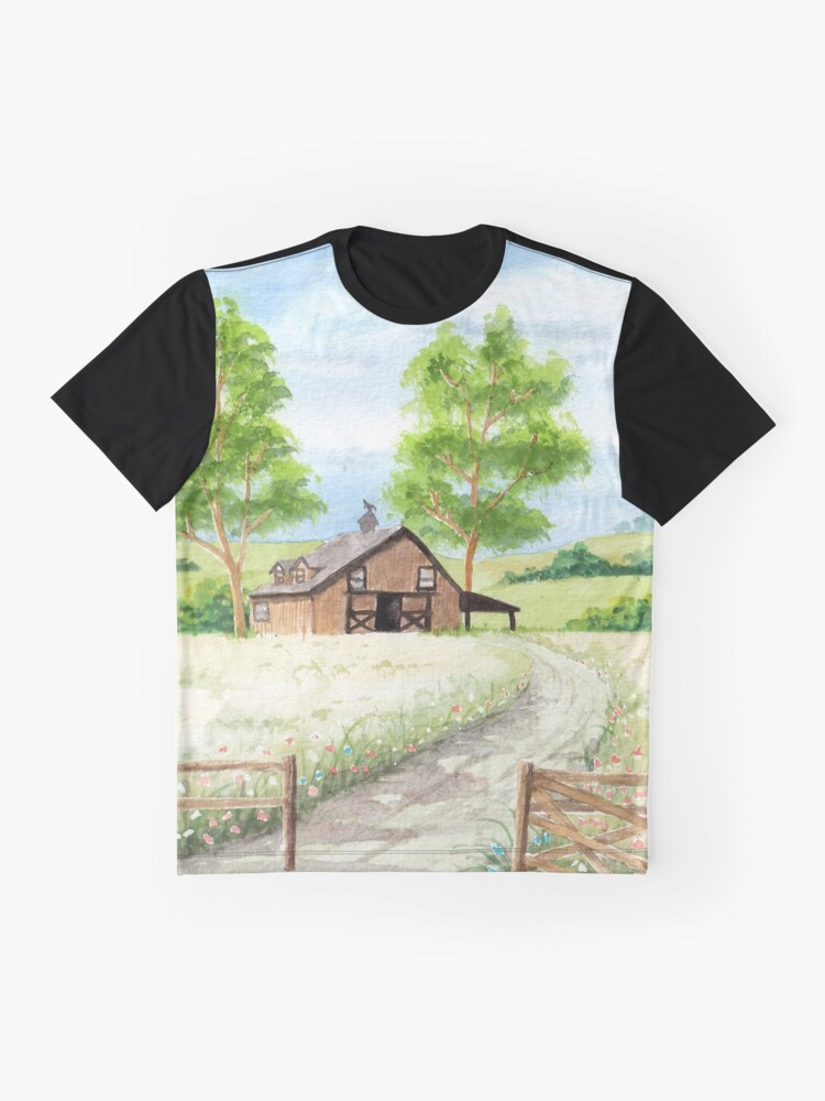 Alternate view of Country landscape Graphic T-Shirt