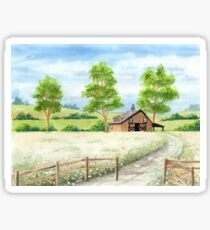 Country landscape Sticker