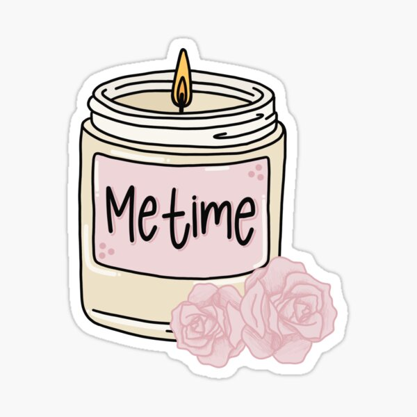 Me Time Candle  Sticker