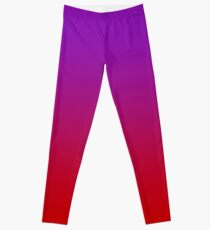 Violett bis rot ombre Leggings
