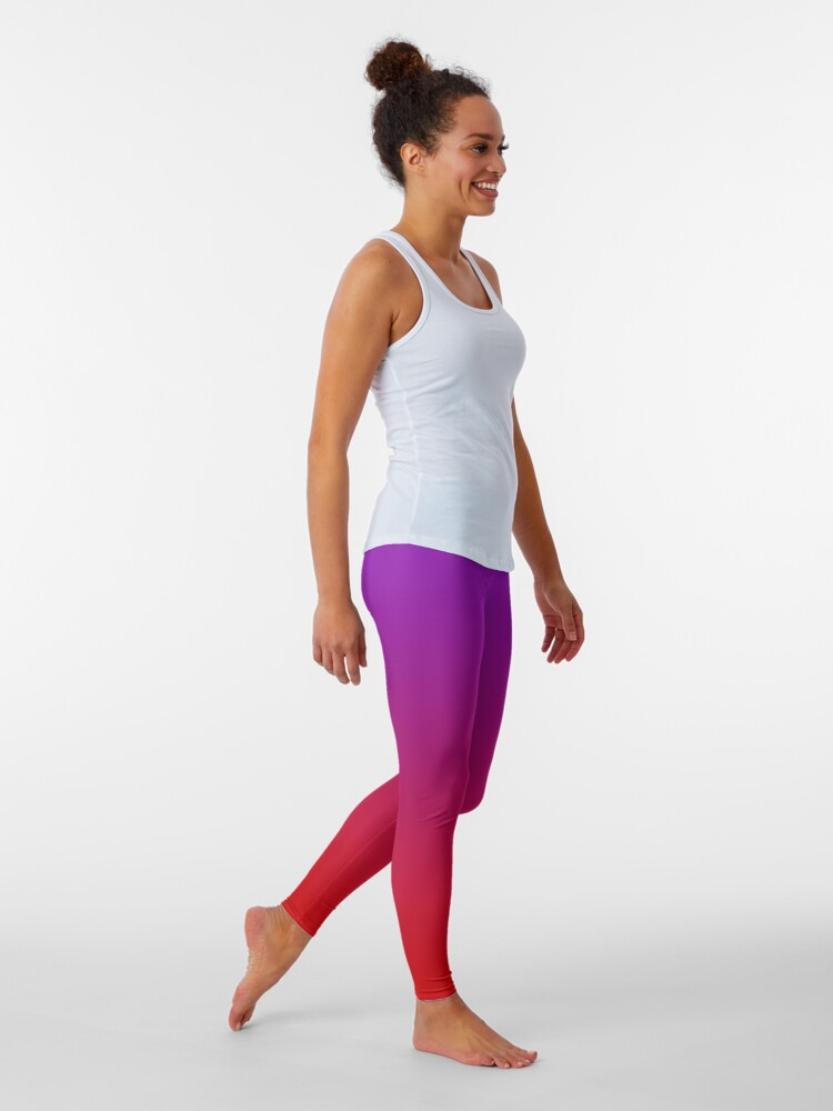 Active Purple Blue Ombre Leggings 12/% Spandex