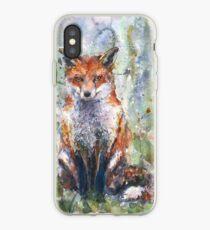 Fox watercolour Naomi Neale watercolor iPhone Case