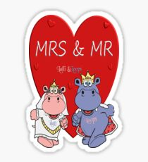 Mrs & Mr Sticker